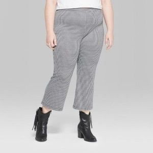 New WILD FABLE Check Kick Flare Borrowed Pants 3X